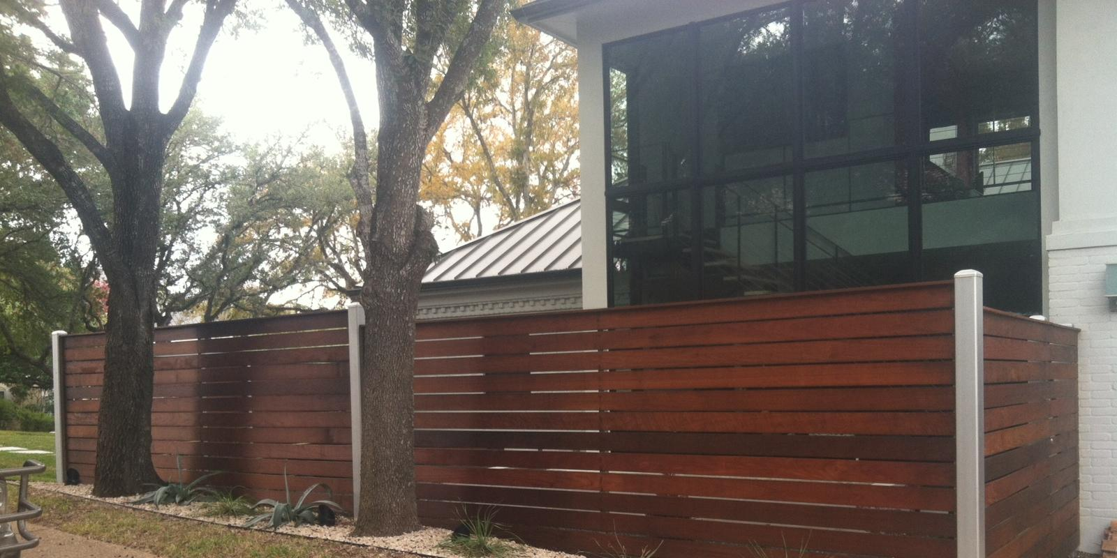 Ranch carpentry ipe fence front porch and tv cover eastside ipe fence long side baanklon Image collections