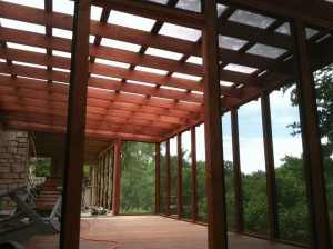 Tigerwood & Fir Screened Porch