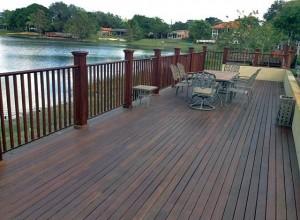 Abaco lake deck