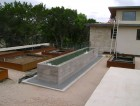 Raised beds in steel and concrete